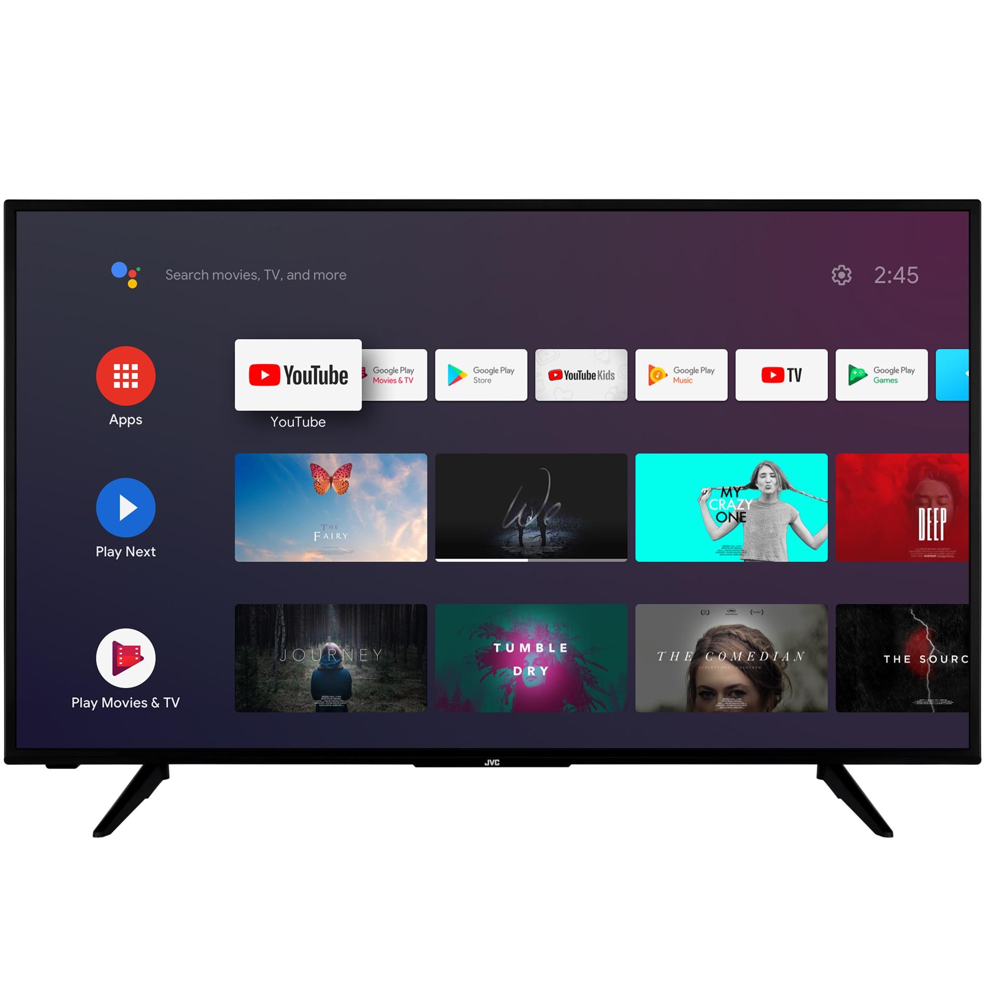 Fotografie Televizor JVC LT-50VA3000, 126 cm, Smart Android, 4K Ultra HD, LED, Clasa A+