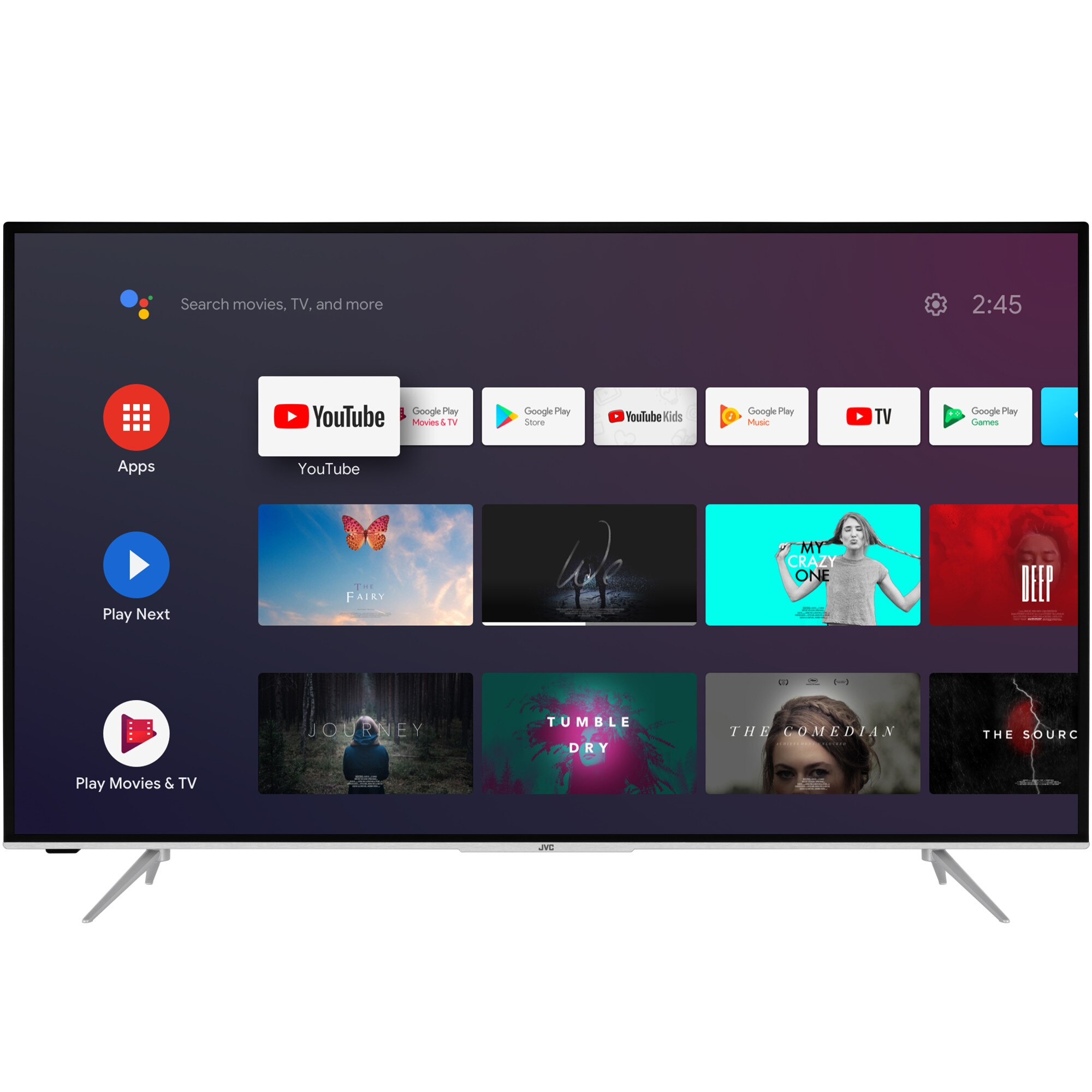Fotografie Televizor JVC LT-43VA6900, 108 cm, Smart Android, 4K Ultra HD, LED, Clasa A+