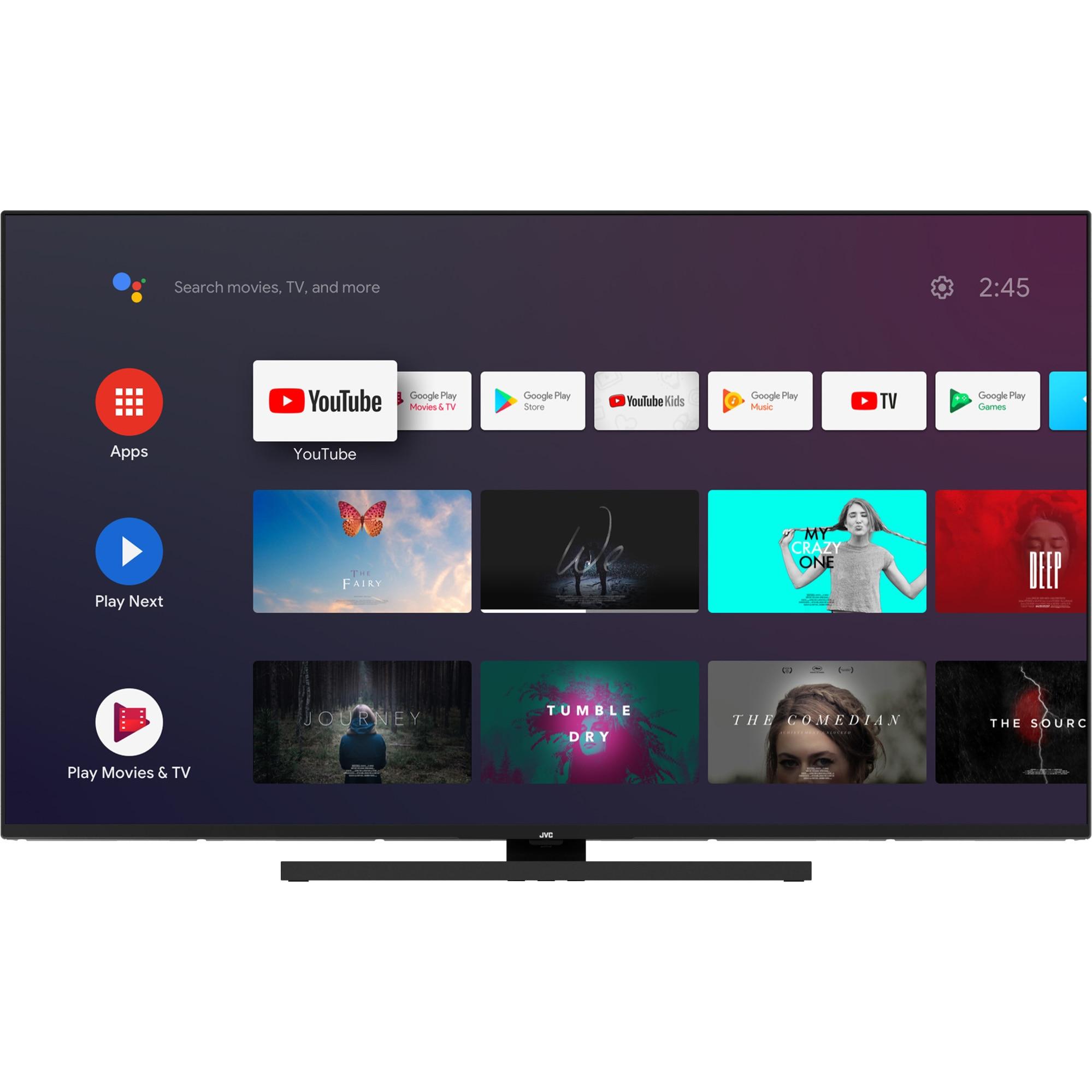 Fotografie Televizor JVC LT-55VA8000, 139 cm, Smart Android, 4K Ultra HD, LED, Clasa A+