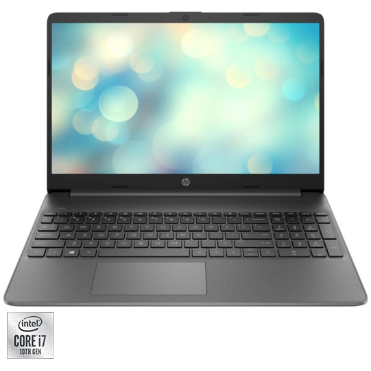 "Fotografie Laptop HP 15-dw1005nq cu procesor Intel® Core™ i7-10510U pana la 4.90 GHz, 15.6"", Full HD, 8GB, 512GB SSD, Nvidia GeForce MX250 4GB, Free DOS, Black"