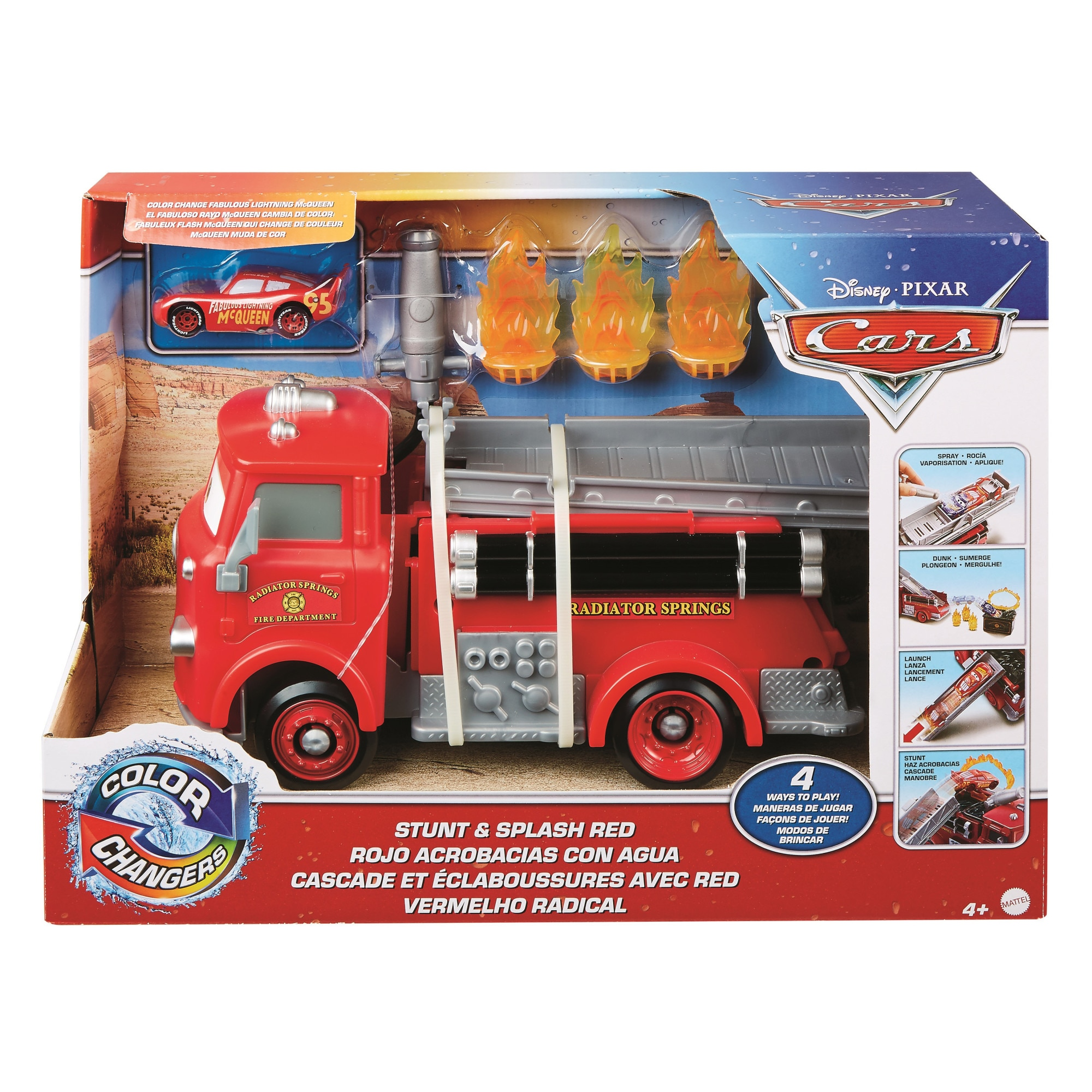 Fotografie Masinuta Disney Cars - Color Changers, Pompierul Red