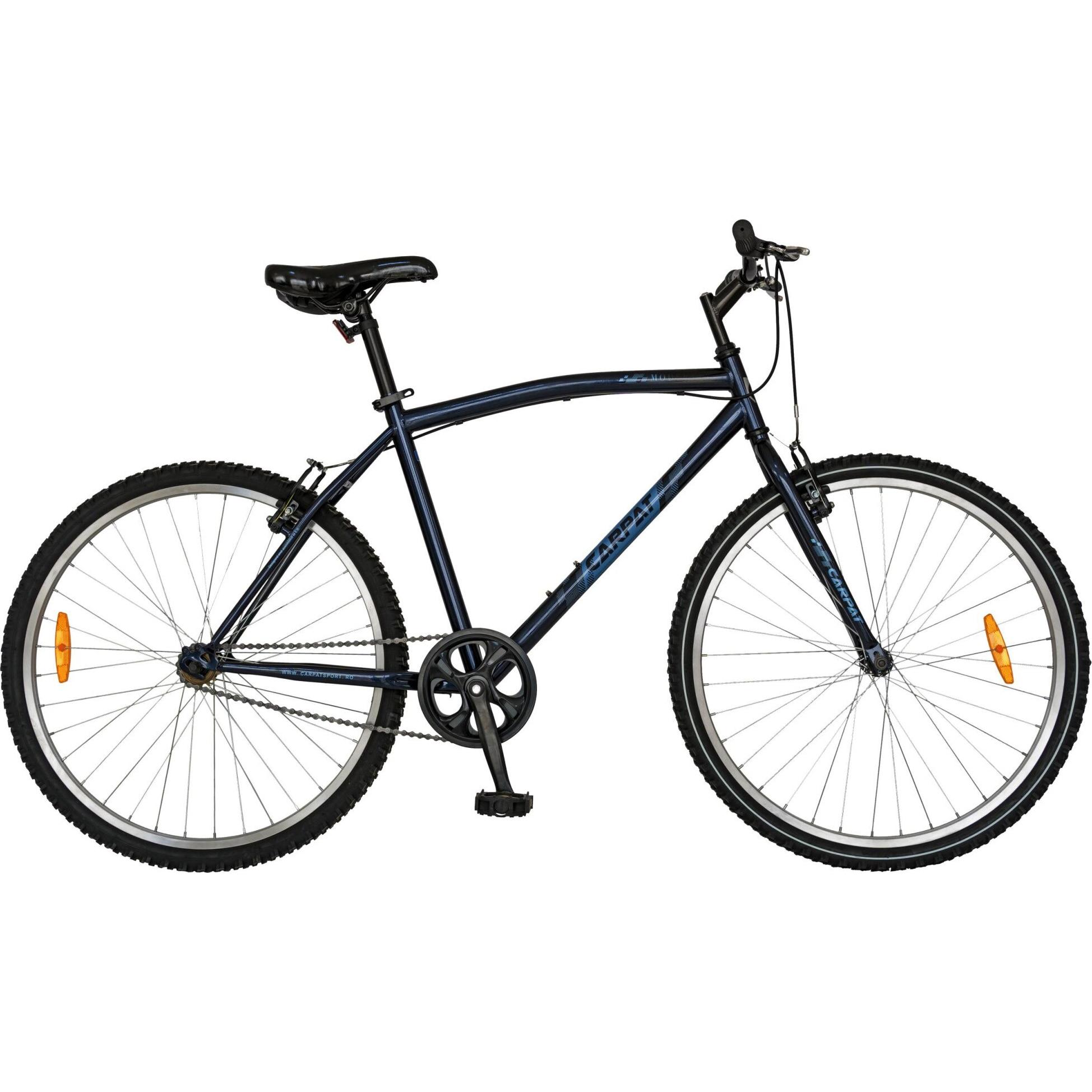 """Fotografie Bicicleta City 26"""" Carpat C2691A Albastru"""