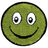 covor pufos verde
