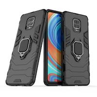 Калъф за телефон Ring Armor Case Kickstand Tough Rugged за Xiaomi Redmi Note 9 Pro/Redmi Note 9S, черен