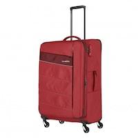 Travelite Kite nagy bőrönd piros 4 kerekű bővíthető