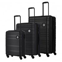 Travelite Roadtrip bőrönd szett fekete 4 kerekű 3 részes