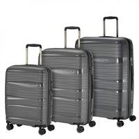 Travelite Motion bőrönd szett antracit 4 kerekű 3 részes