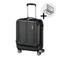 Travelite City kabinbőrönd antracit 4 kerekű első zsebbel
