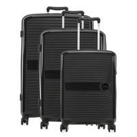 Travelite Ceris bőrönd szett fekete 4 kerekű 3 részes