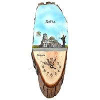 Сувенирен часовник, Напречен срез дърво, Sofia, Многоцветен