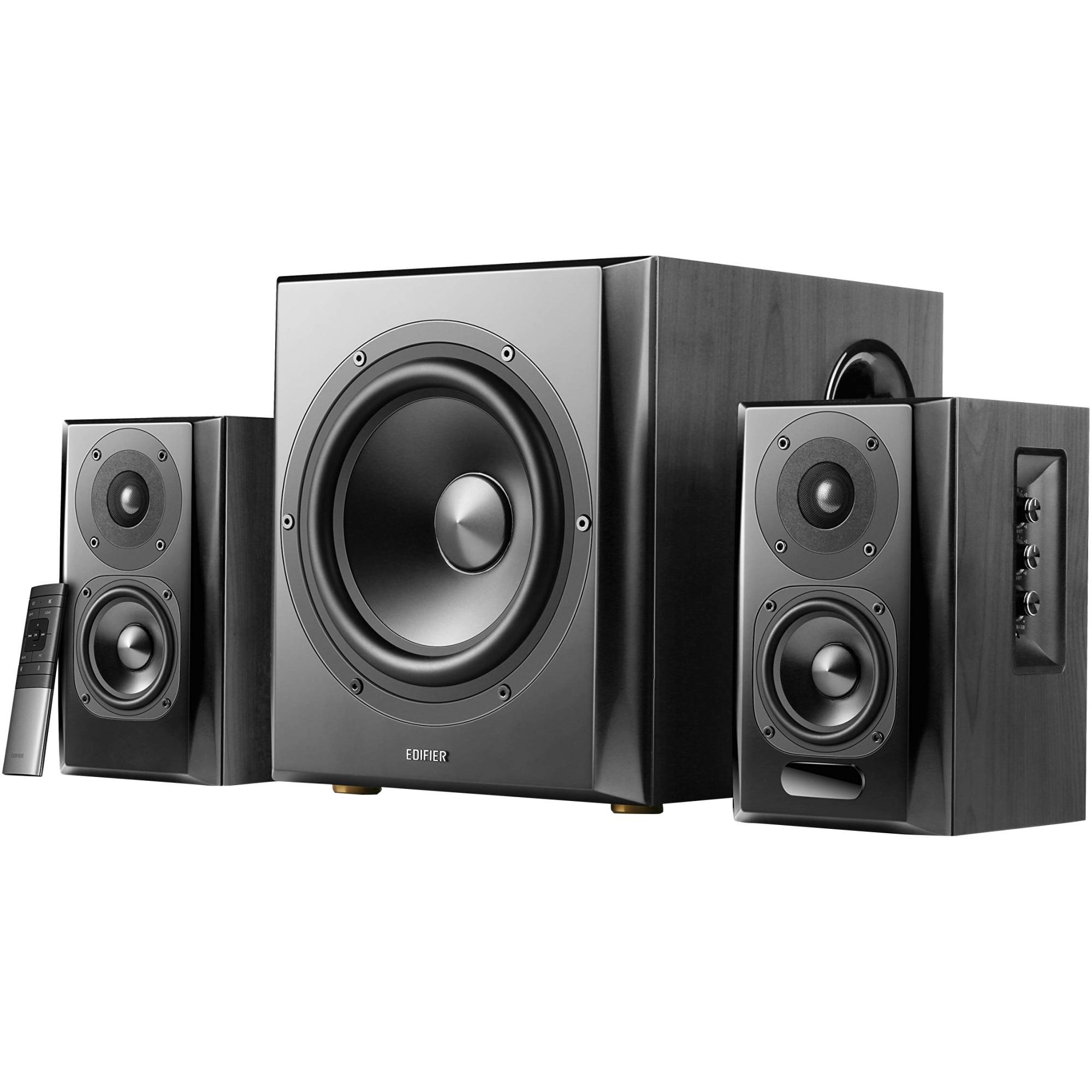 Fotografie Boxe Edifier 2.1 S351DB-BK, 150W, Bluetooth, Telecomanda, Negru