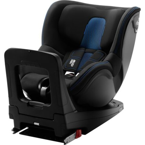 Fotografie Scaun auto ISOFIX i-Size Britax Romer DUALFIX M Cool Flow Blue, 61-105 cm, rotativ, Negru/Albastru