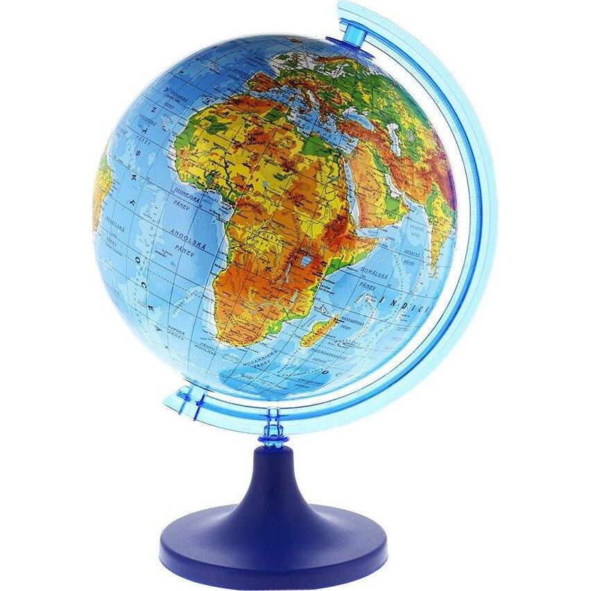 Fotografie Glob pamantesc 25 cm, harta fizica, arc meridian gradat, rotativ, suport birou