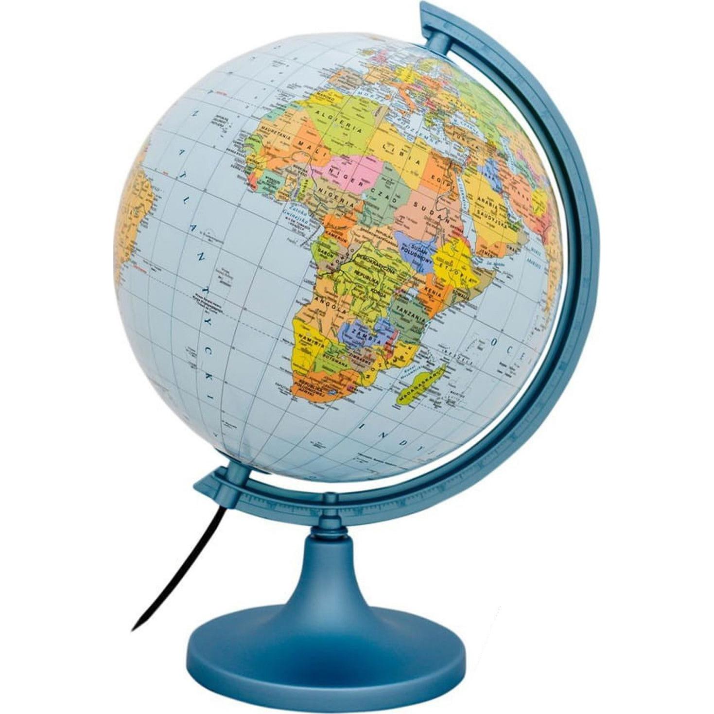 Fotografie Glob pamantesc iluminat 25 cm, harta politica si fizica, cartografie detaliata