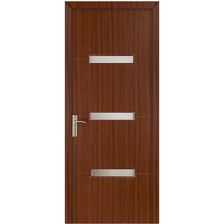 Usa lemn interior cu geam Style-016 Teak 2000/600
