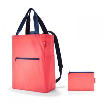 Reisenthel mini maxi 2 in 1 válltáska/hátizsák korall