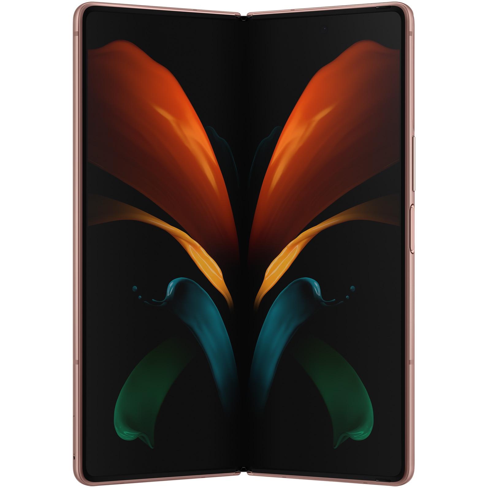 Fotografie Telefon mobil Samsung Galaxy Z Fold2, Dual SIM, 256GB, 12GB RAM, 5G, Mystic Bronze