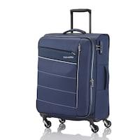 Travelite Kite közepes bőrönd kék 4 kerekű bővíthető