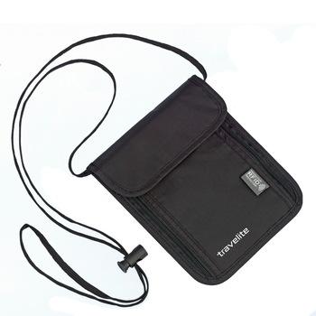 Travelite Accessories nyakba akasztós pénztárca fekete RFID