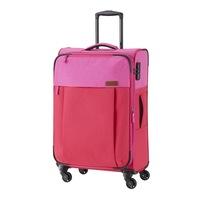 Travelite Neopak közepes bőrönd piros-pink 4 kerekű bővíthető