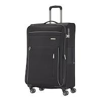 Travelite Capri nagy bőrönd fekete 4 kerekű bővíthető