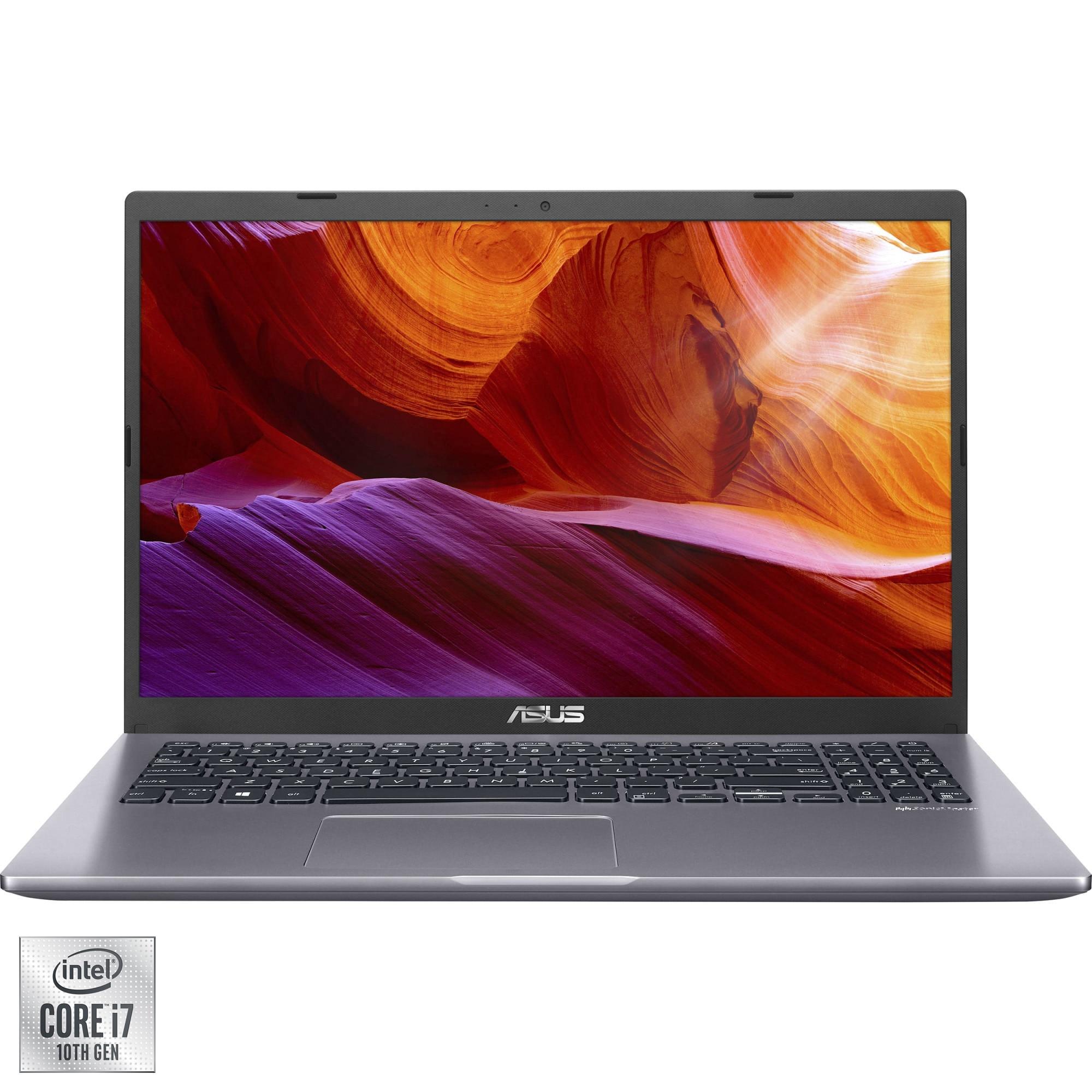 "Fotografie Laptop ASUS X509JA cu procesor Intel® Core™ i7-1065G7 pana la 3.90 GHz, 15.6"", Full HD, 8GB, 512GB SSD, Intel® Iris™ Plus Graphics, FreeDOS, Slate Grey"