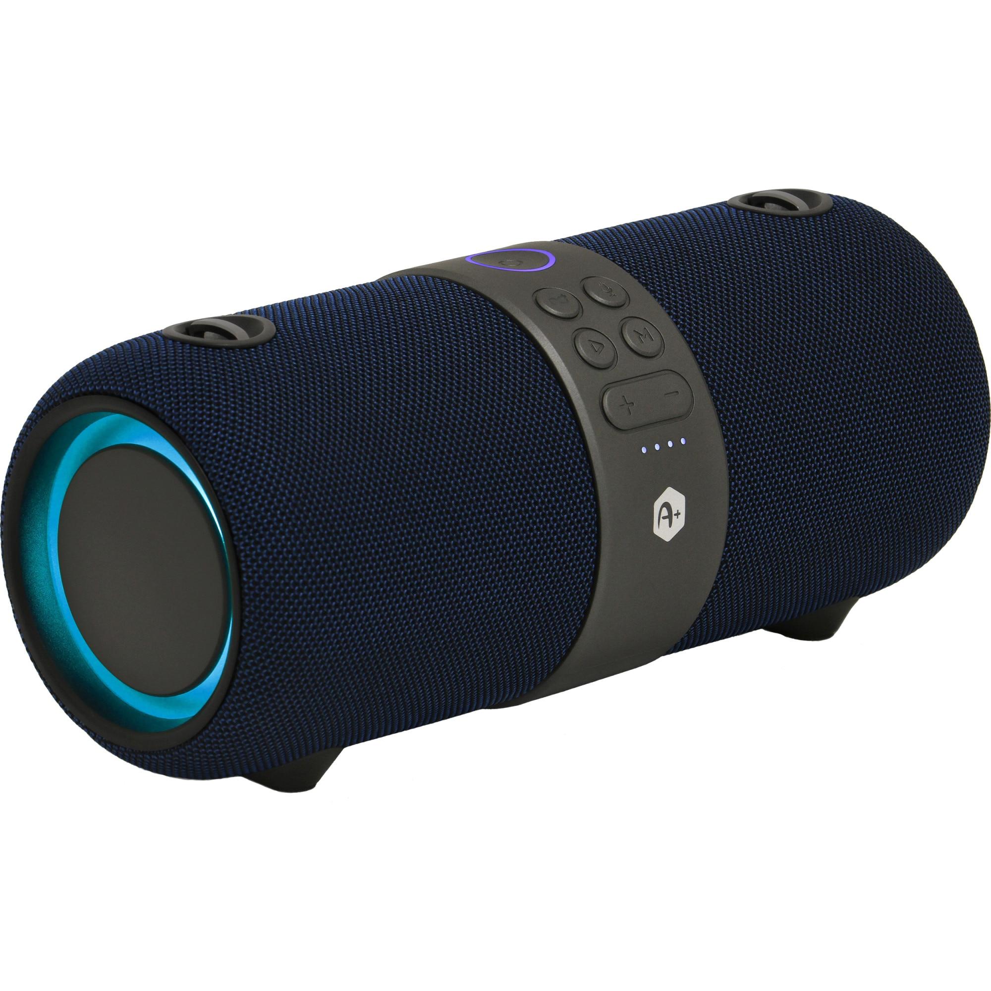 Fotografie Boxa portabila bluetooth A+ IPX6, USB port, blue