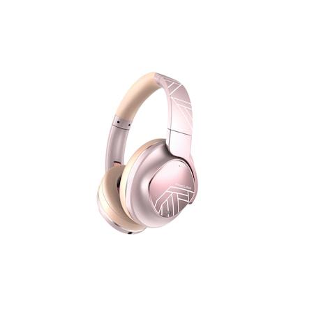 PowerLocus MoonFLY Bluetooth fejhallgató,70 óralejátszási idő, ,vezeték nélküli fül köré illeszkedő összehajtható (Rose Gold)
