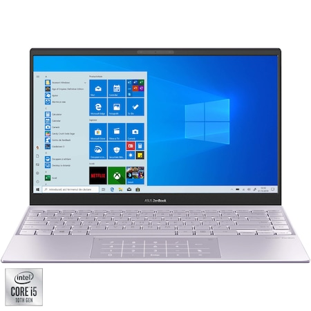 "Лаптоп Ultrabook ASUS ZenBook 13 UX325JA, 13.3"", Intel® Core™ i5-1035G1, RAM 8GB, SSD 512GB, Intel® UHD Graphics, Microsoft Windows 10 Home, Lilac Mist"