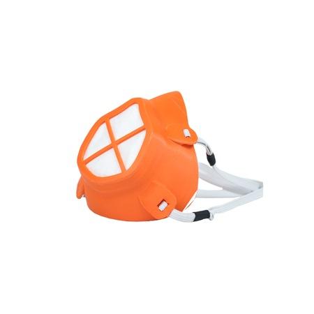 Masca de protectie reutilizabila, FlexMask, termoplastic poliuretanic/polipropilena, portocaliu, Adulti