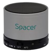 Boxa Spacer portabila bluetooth TOPPER, , incarcare USB, argintiu, SPB-TOPPER-SILV