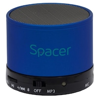Boxa Spacer portabila bluetooth TOPPER, , incarcare USB, albastru, SPB-TOPPER-BLU