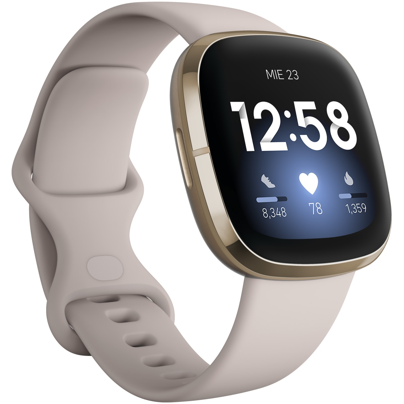 Fotografie Ceas smartwatch Fitbit Sense, Lunar White Soft Gold