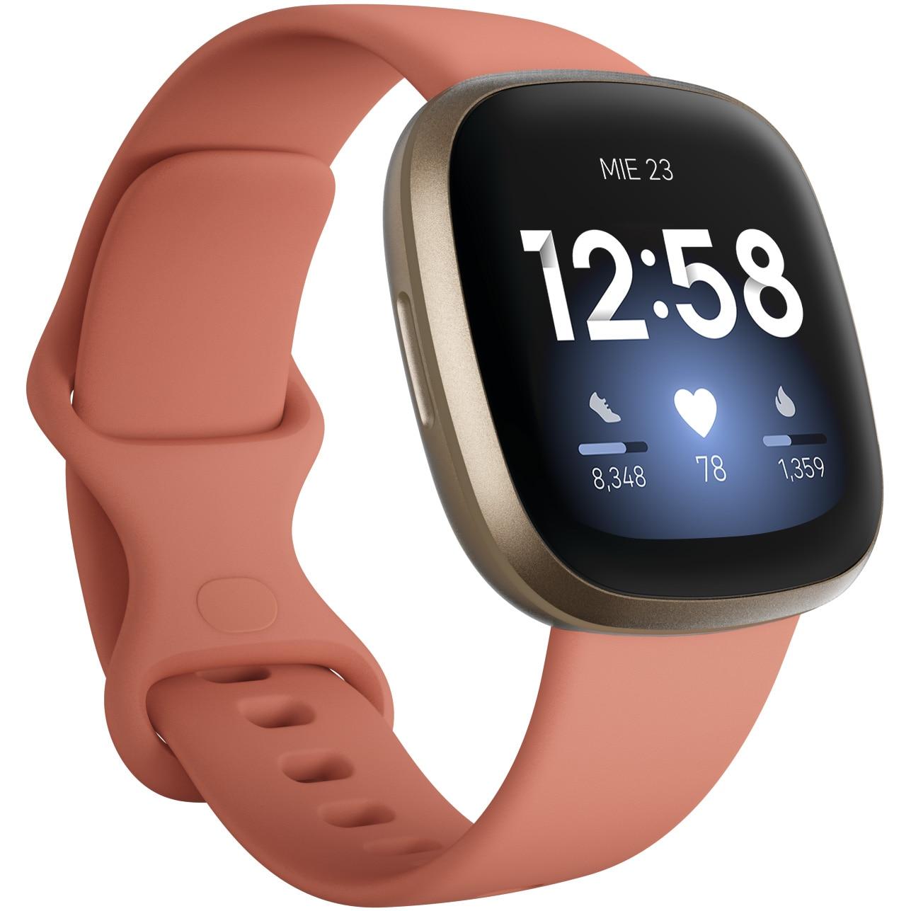 Fotografie Ceas smartwatch Fitbit Versa 3, Pink Clay