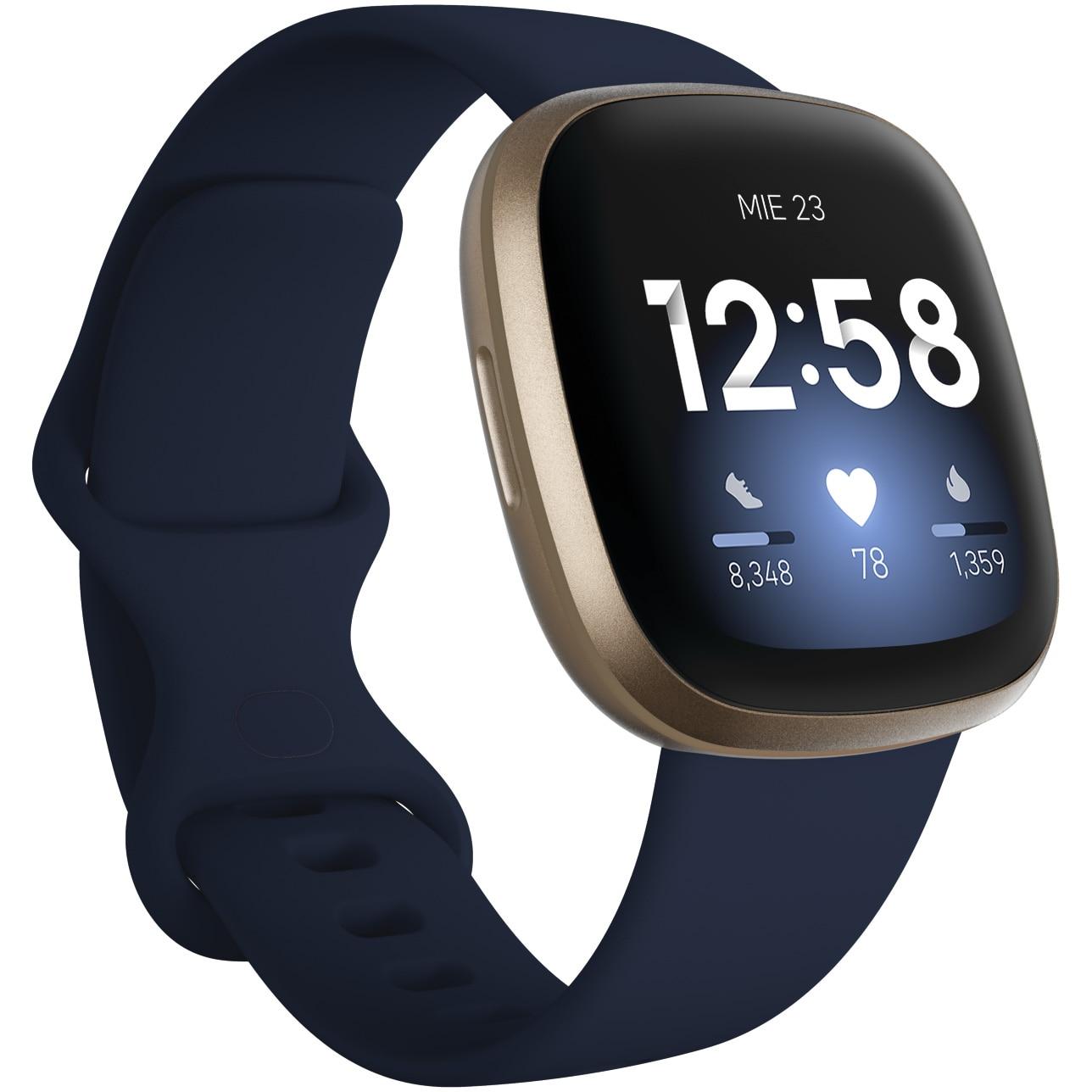 Fotografie Ceas smartwatch Fitbit Versa 3, Midnight Soft Gold