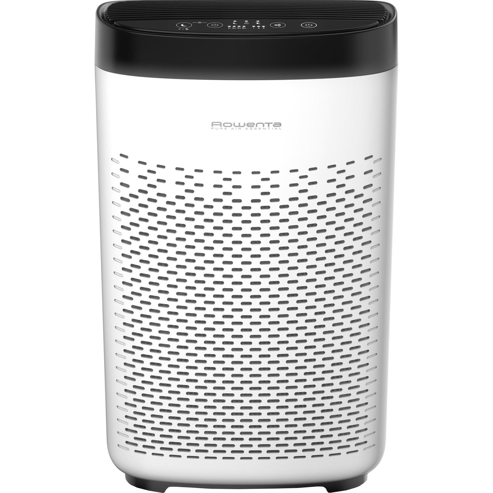 Fotografie Purificator Rowenta PU2530F0 PURE AIR Essentials, capacitate filtrare 230m3/h, 3 niveluri de filtrare, alb/negru