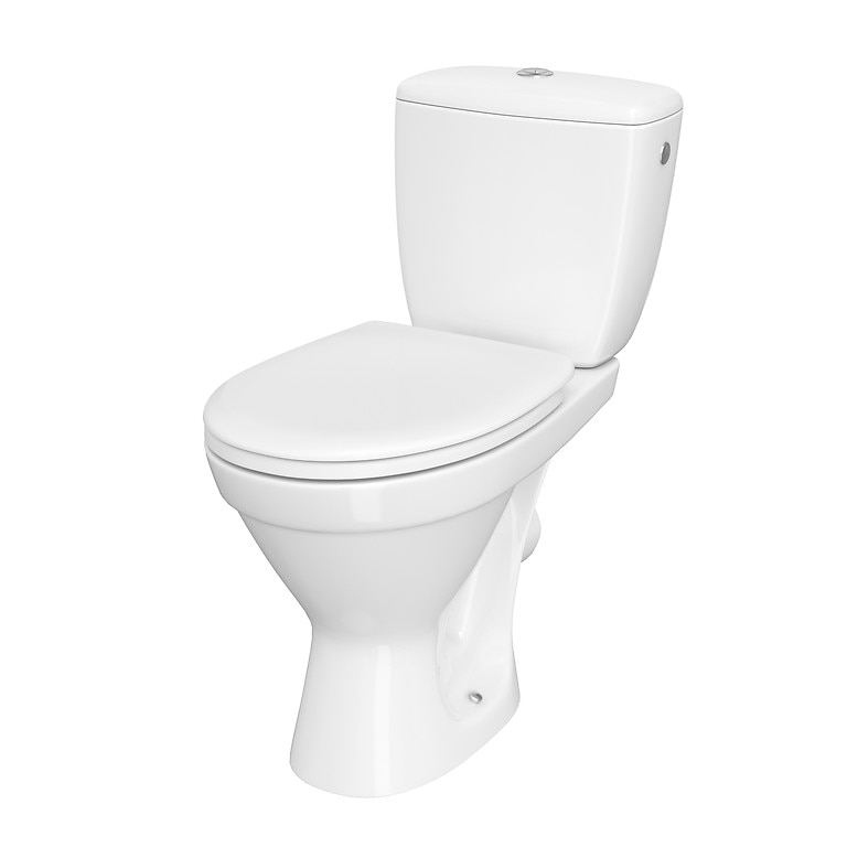 Fotografie Vas WC compact Cersanit Cersania 695, K11-2337, Simple ON, evacuare orizontala, cu capac, inchidere lenta, rezervor 3/6 l