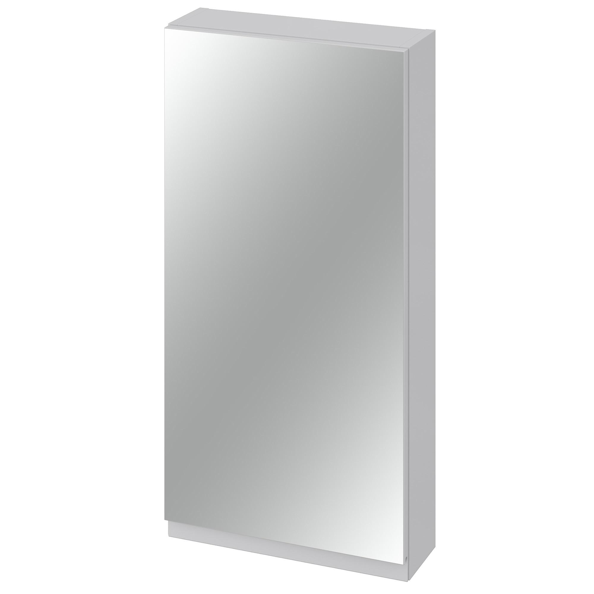 Fotografie Dulap cu oglinda Cersanit Moduo, S590-031, 3 rafturi, inchidere lenta, 80x40x14.1 cm, Gri