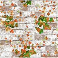 Tapéta DEGRETS 2193 Mosható, Nedvességálló, Őszi kő tégla , Méret: 0.53m x 10.05m = 5.3 m2