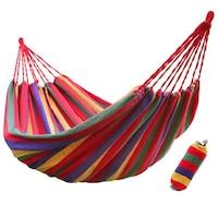 Хамак MT Malatec, единичен, 80х200 см, разноцветен памук, максимално тегло 120 кг, калъф за съхранение