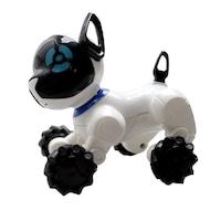 Zenélő kézzel bukfenceztethető robot kutya