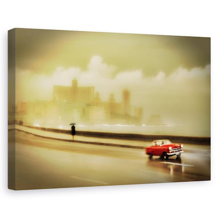 Tablou canvas - Havana Malecon, Strada, Cuba, Masina, Clasic, 20 x 30 cm