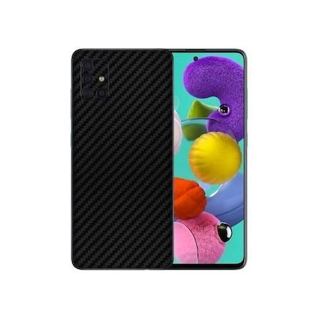 Защитно фолио за Samsung Galaxy A51, Карбон, Черен