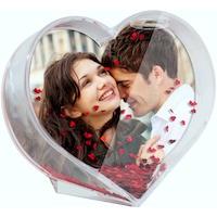 Glob foto in forma de Inima personalizat cu poza si/sau textul dorit