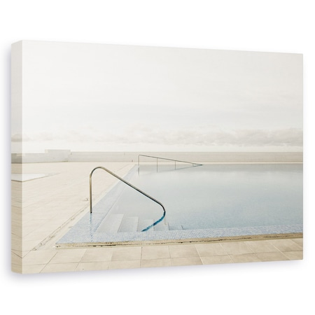 Tablou canvas - In Afara Sezonului, Calm, Coasta, Nori, Arhitectura, Piscina, 20 x 30 cm