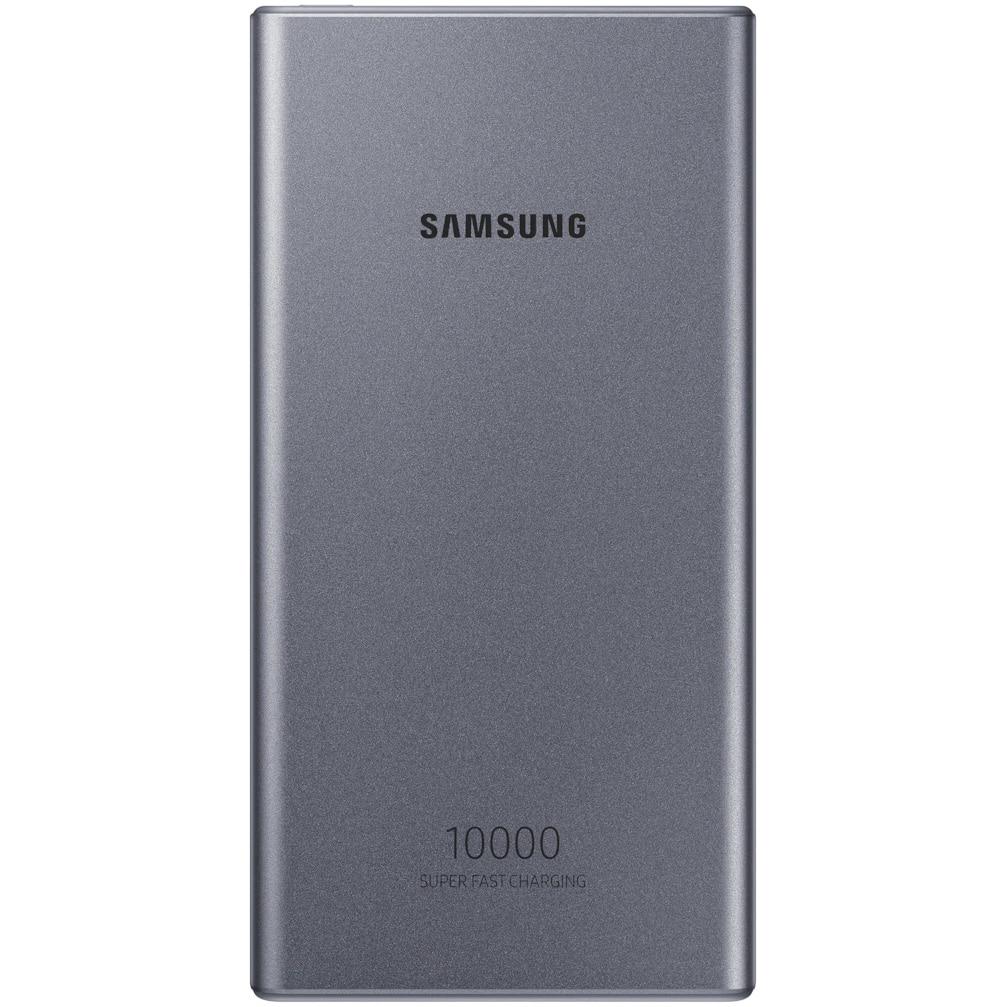 Fotografie Acumulator extern Samsung, USB Type C, 10000 mAh, 25W, Dark Gray