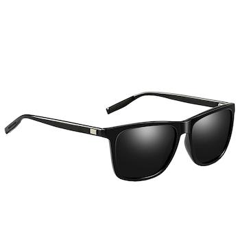Ochelari de soare Wayfarer, aluminiu, lentile polarizate, protectie UV400