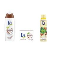 Fa Coconut Milk és Amazonia Spirit Női szett (tusfürdő 250 ml+ deospray 150 ml + szappan 90 g)