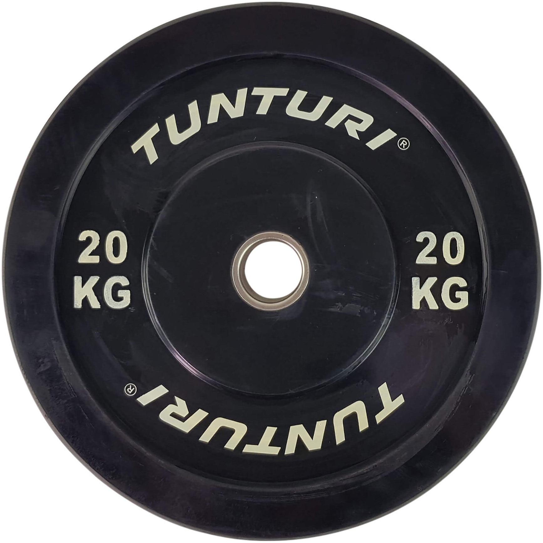 Fotografie Disc cauciuc Tunturi Bumper, 20 kg, negru
