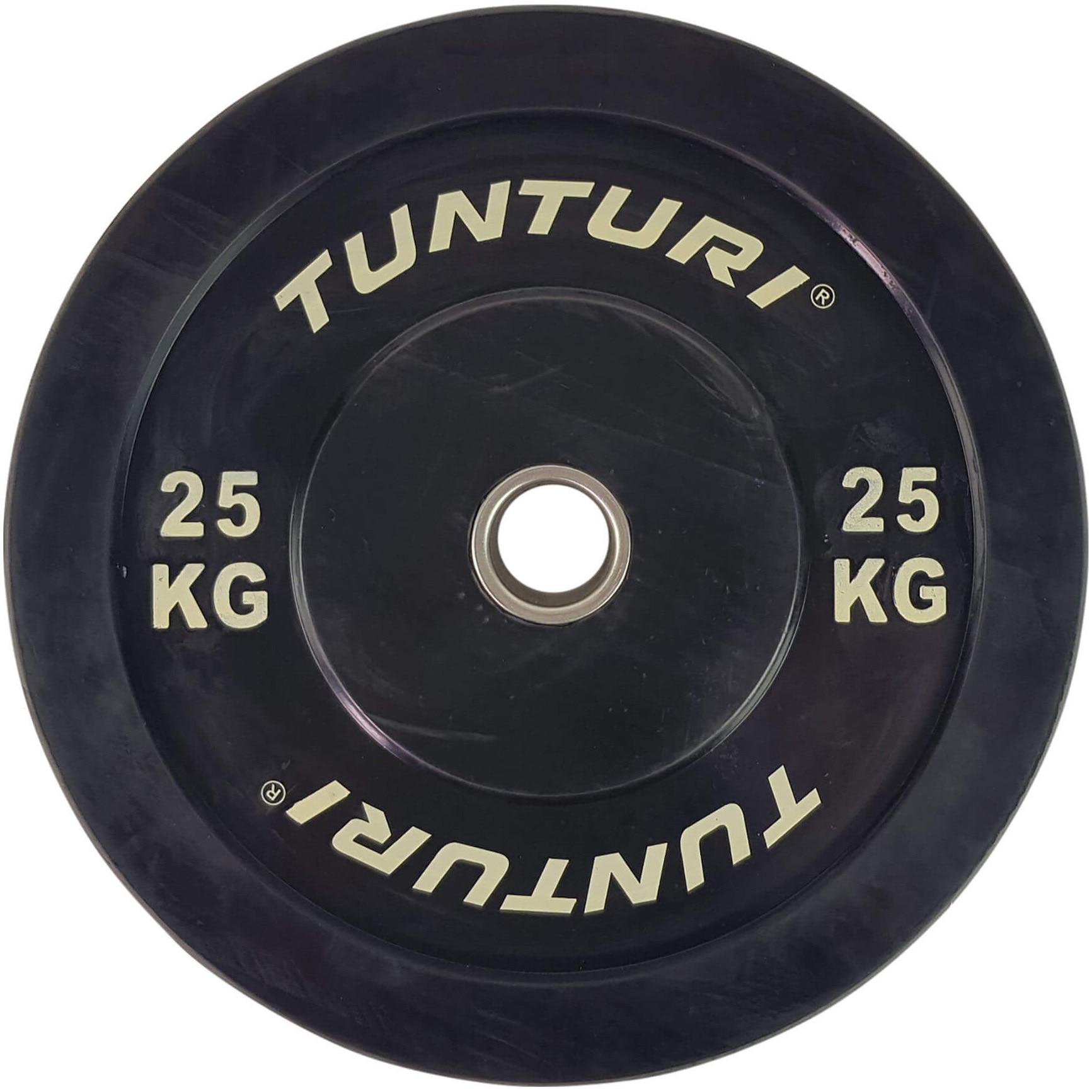 Fotografie Disc cauciuc Tunturi Bumper, 25 kg, negru